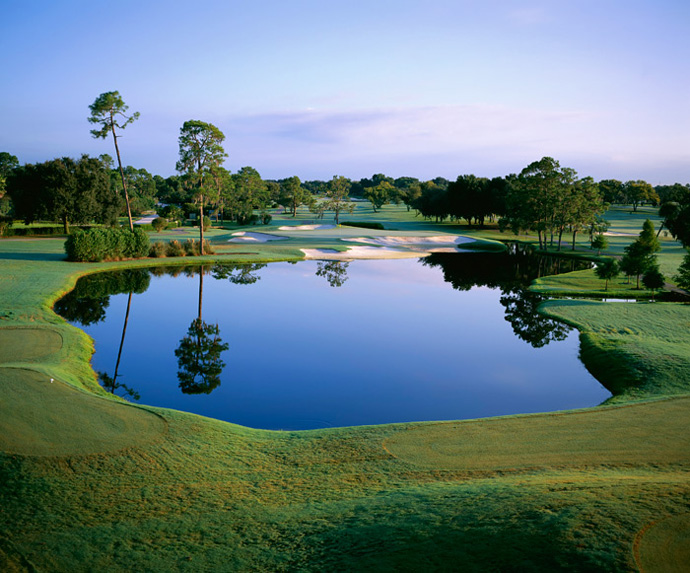 Arnold Palmer's Bay Hill Club & Lodge -- Orlando, Fla.                              After he waxed Jack Nicklaus in an exhibition at Bay Hill in 1965, Arnold Palmer liked the place so much he bought it. Mr. Palmer has held court here since 1976 and there's nowhere else on earth that you're more likely to run into him.
