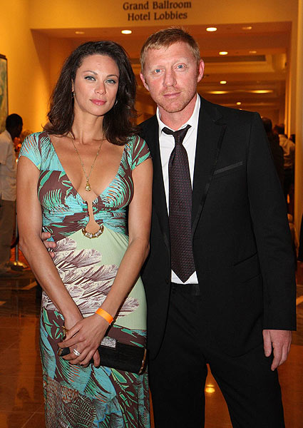 Tennis champion Boris Becker attended with his girlfriend, Sharlely Kerssenberg.