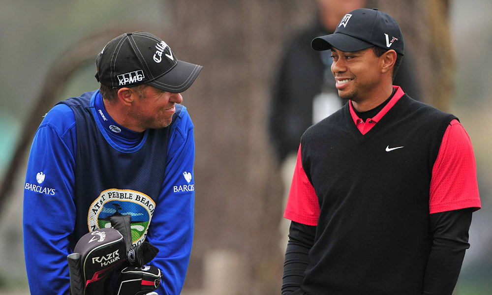 "A more outgoing Woods shared a laugh with Mackay, but he wasn't happy after his round. ""All I had to do was get off to a good, solid start today. And I didn't do that,'' Woods said."