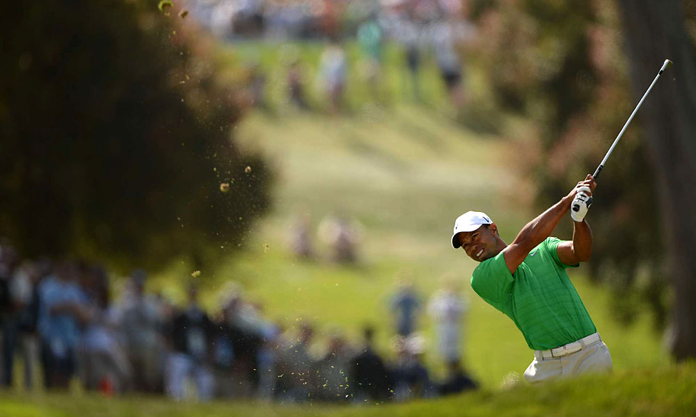 Woods struggled early, shooting a three-over 37 on the front nine.