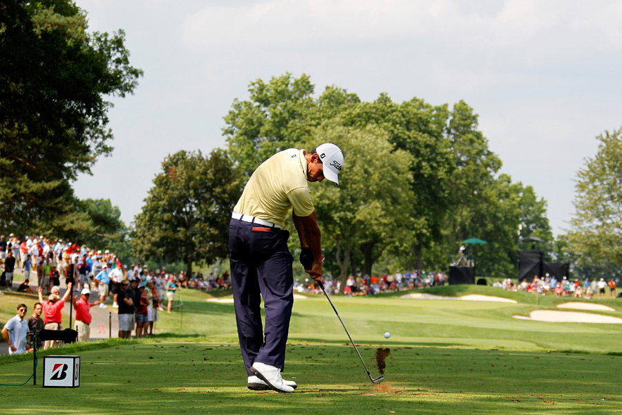 Rafael Cabrera-Bello was in the final group, but he dropped out of contention after a seven-over 77.
