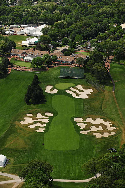 The final hole at Bethpage is a 411-yard par 4.Video: Flyover of No. 18 at Bethpage Black