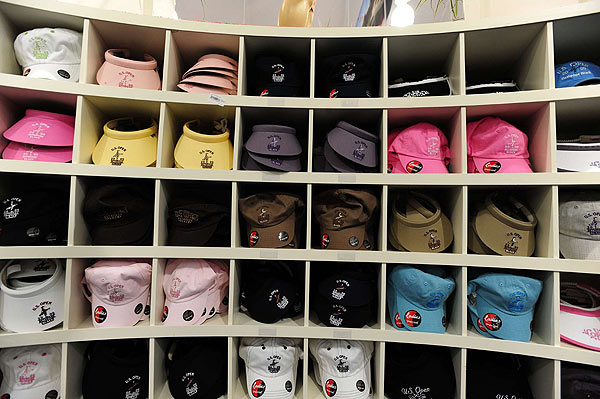 Hats and visors can be found in any color of the rainbow.