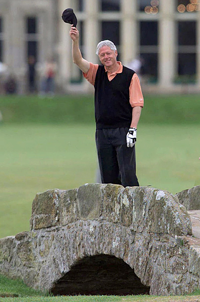 Clinton got a chance to play the Old Course in St. Andrews in May of 2001.