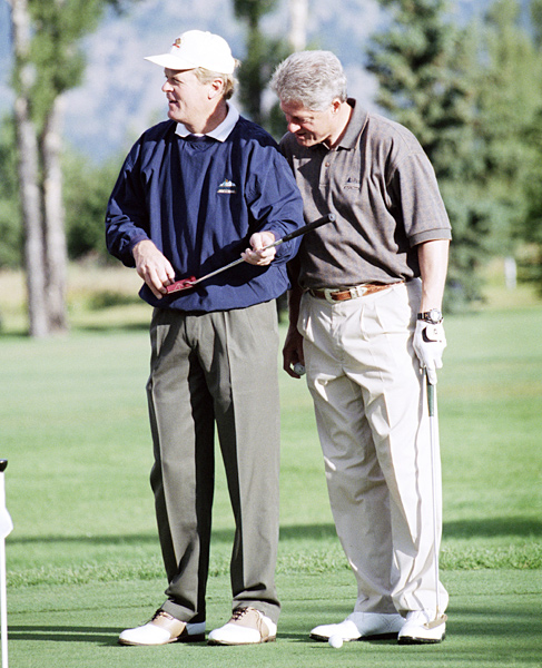As a surprise 49th birthday present, Hillary Clinton arranged a round with Johnny Miller in Wyoming.