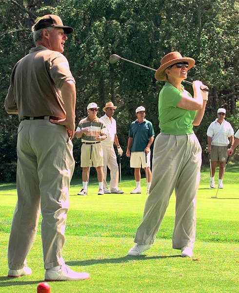 The first couple at Mink Meadows Golf Club on Martha's Vineyard in 1997.