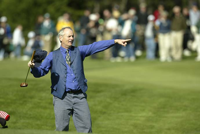 Bill Murray at the 2003 AT&T Pebble Beach National Pro Am, the year he appeared in Lost in Translation.