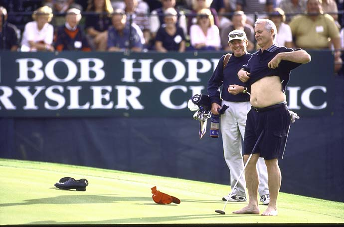 Bill Murray shows his belly to the fans at the Bob Hope Classic in Palm Springs, Calif, in January 2001.