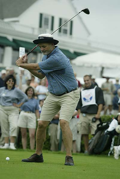 Bill Murray tees off at Travelers Celebrity Pro-Am during the 2003 Greater Hartford Open held at the Tournament Player's Club at River Highlands in Cromwell, Conn.