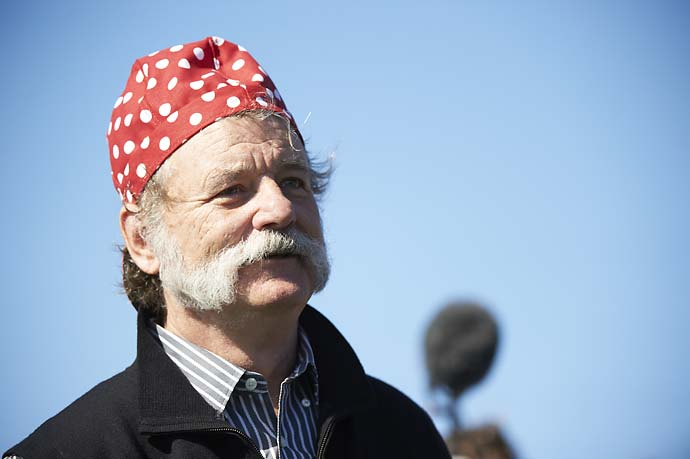 Bill Murray at Pebble Beach Golf Links during the 2013 AT&T Pebble Beah National Pro-Am. Murray had grown the mustache for a movie role.