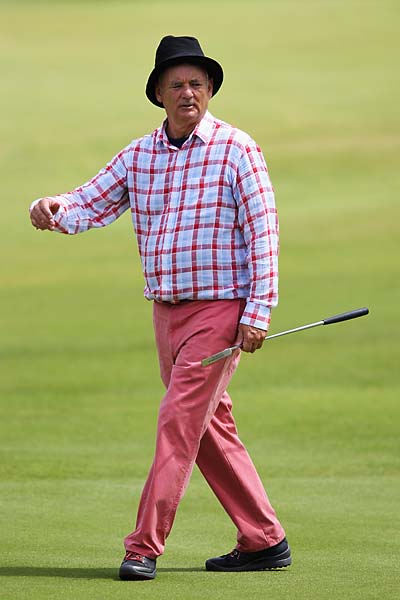 Bill Murray at the 2012 Irish Open held on the Dunluce Links at Royal Portrush Golf Club in June 2012 in Portrush, Northern Ireland.