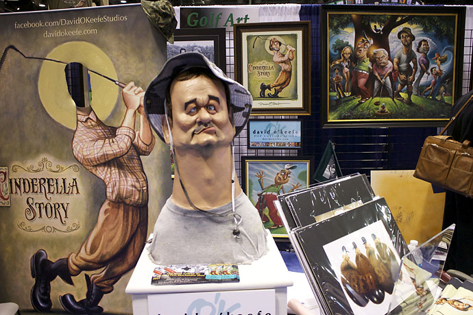 """A bust of Bill Murray as Carl Spackler is the perfect gift for your friend who's a little too into """"Caddyshack"""". For more info, visit artist David O'Keefe's website."""
