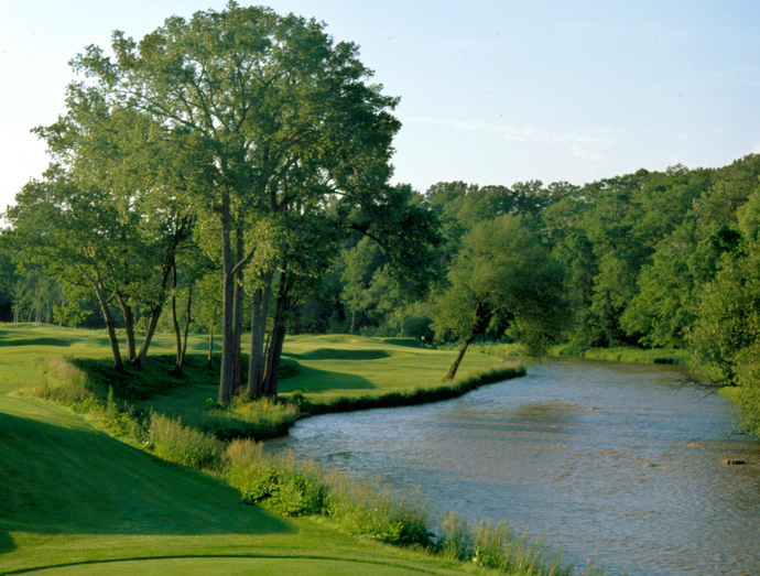 "Blackwolf Run (River Course)                       Kohler, Wisc.                       americanclubresort.com                                              Pete Says: ""At Blackwolf Run, the manicured fairways, long grasses, and prairie plantings side by side provide a perfect contrast."""