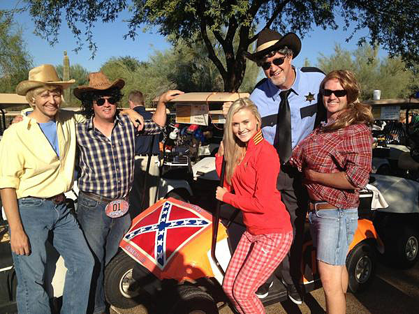 Blair O'Neal: @BLAIRONEAL: Happy Halloween!! Grayhawk GC with Dukes of Hazzard!