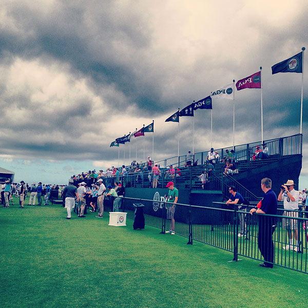 """@StephanieWei: Clouds hovering over the practice range at The Ocean Course @ The Ocean Course at Kiawah Island."""
