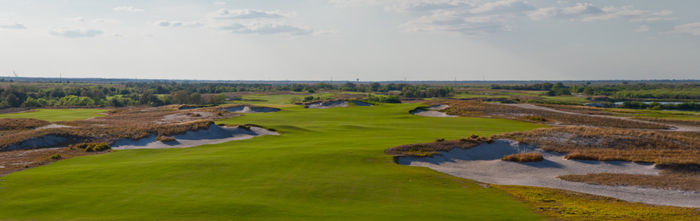 Streamsong Resort is a 36-hole golf resort in Polk County, Fla. The Blue course is designed by Tom Doak, and the Red course is designed by Bill Coore and Ben Crenshaw. Here's a sneak peek.                                                      Blue Course                           No. 1: Par 4, 338 yards
