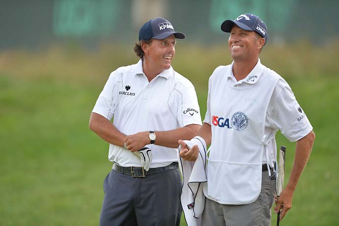 "Other than your own, who's the best caddie on Tour?                           Jim ""Bones"" Mackay (Phil Mickelson): 14 percent                           Joe LaCava (Tiger Woods): 14 percent                           Paul Tesori (Webb Simpson): 12 percent                           Steve Williams (Adam Scott): 10 percent                           Mike ""Fluff"" Cowan (Jim Furyk): 8 percent                           Tony Navarro (Gary Woodland): 4 percent                            Jimmy Johnson (Steve Stricker): 4 percent                           Don't Know/Other: 34 percent                           OFF THE RECORD:                           ""The No. 1 player in the world generally has the best caddie."""