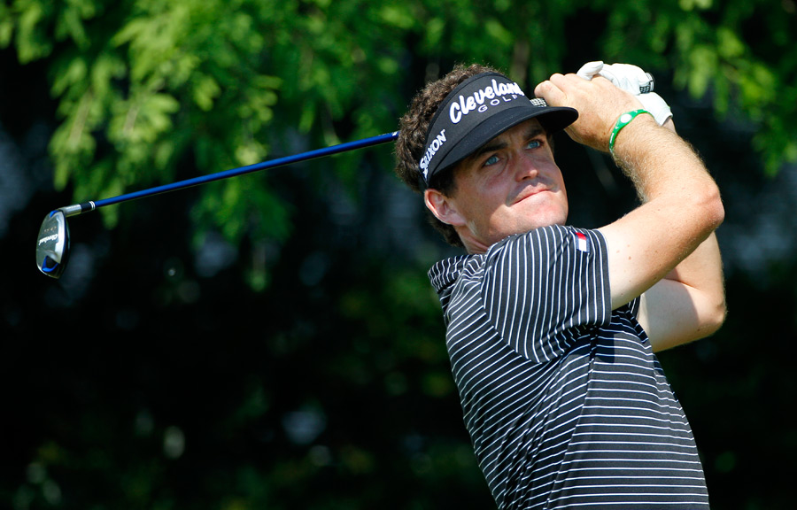 Defending champion Keegan Bradley made six birdies and four bogeys.