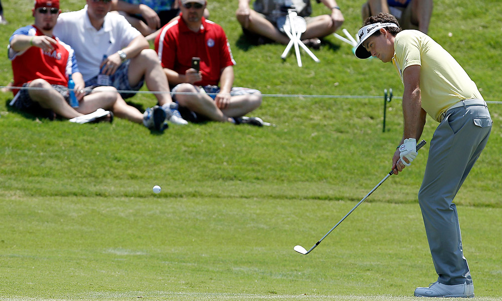 Defending champ Keegan Bradley shot a 67.