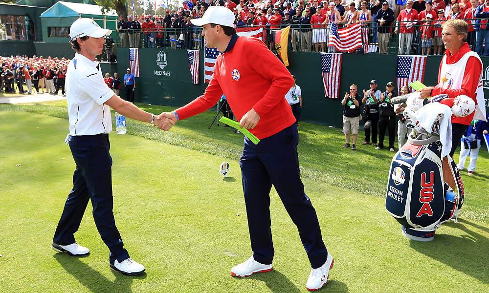 McIlroy faced off against American hero Keegan Bradley.