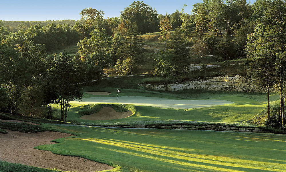 Branson Creek Golf Club -- Hollister, Mo. -- bransoncreekgolf.com                            -- Jan.-Feb.: $48                           -- March: $60                           -- April: $76                           -- Nov.-Dec.: $60