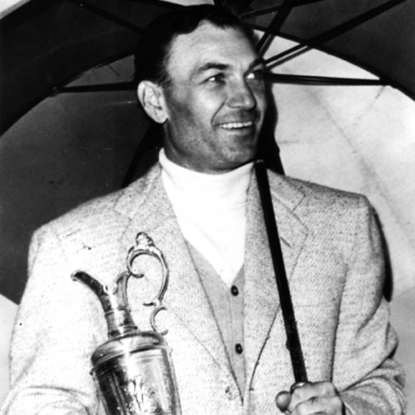 1953                           CHAMPION                            BEN HOGAN                                                      SCORE 282                                                      • On the morning of the final two rounds, Hogan had a brutal cold, and his legs, which had been crushed in a car accident four years earlier, were in extreme pain. Still, Hogan persevered, winning by four.