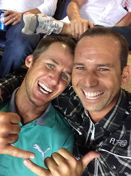 """Enjoying the game with @mavandnash!"" -- @TheSergioGarcia"
