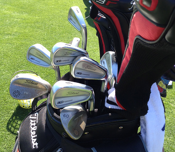 Bryce Molder's Titleist CB Forged irons and custom stamped Vokey wedge.