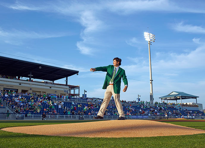 Watson capped his unforgettable day by throwing out the first pitch at a Pensacola Blue Wahoos game.