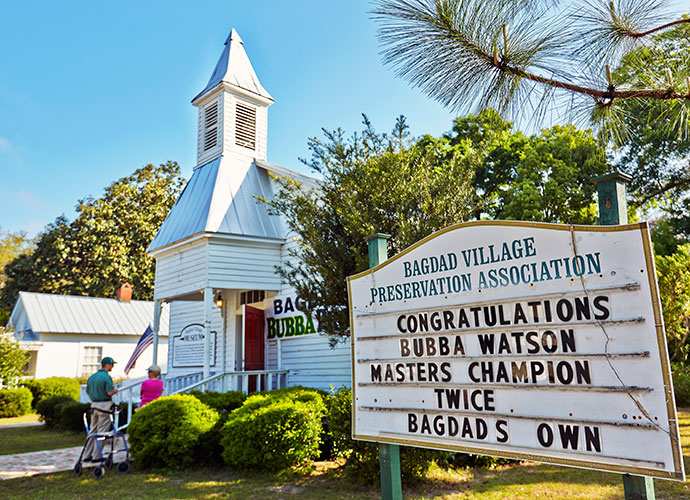 When Bubba Watson returned to his hometown of Bagdad, Fla., for the first time since his second Masters victory, signs of his presence were everywhere, and photographer Ben Van Hook was on the scene to capture the drama for Sports Illustrated.