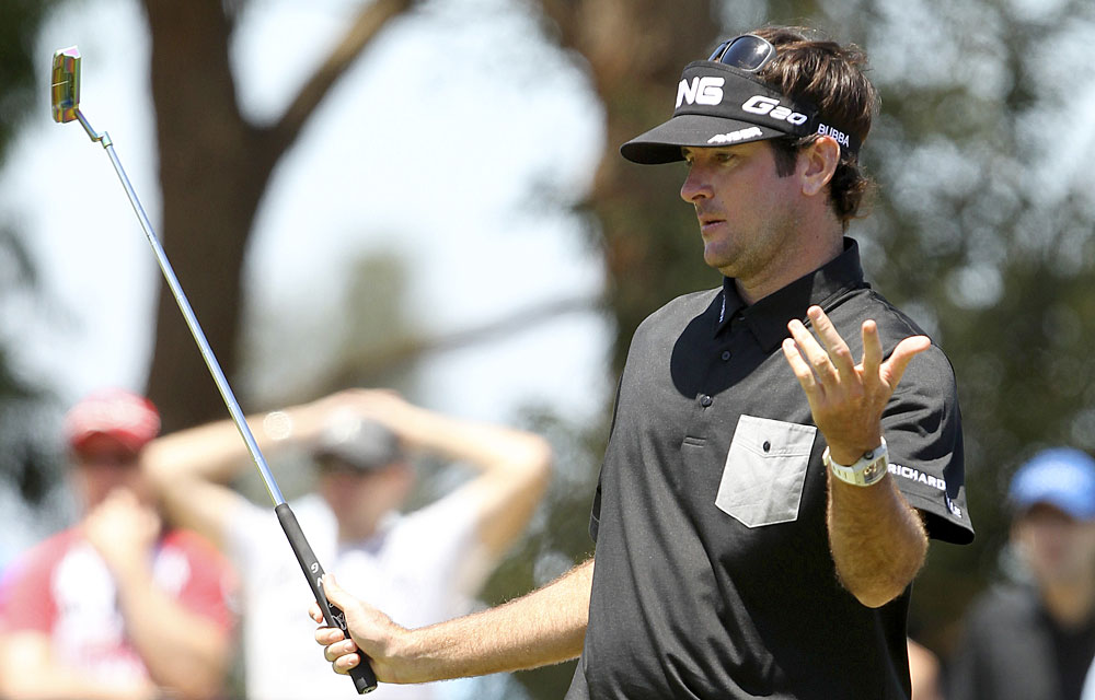 Despite an even-par 72, Bubba Watson is still in the hunt.