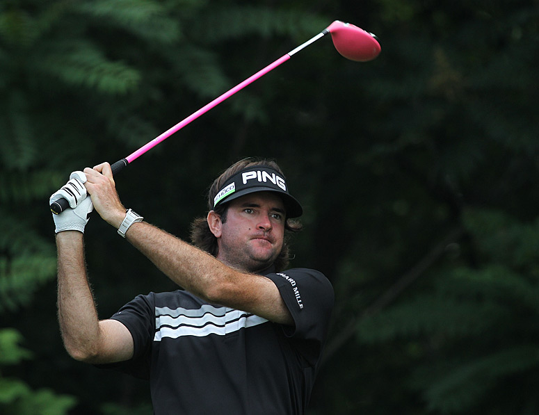 Bubba Watson made three bogeys and two birdies for a one-over 71.