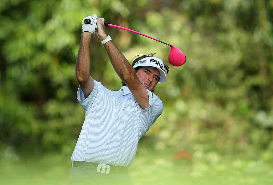 Bubba Watson shot a two-under 69 to move into the top 10.