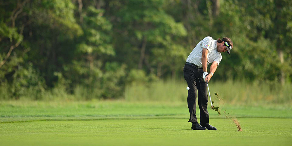 Bubba Watson shot a 70 to finish at two under par.