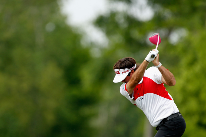 Bubba Watson made eight birdies and a bogey to move into contention.