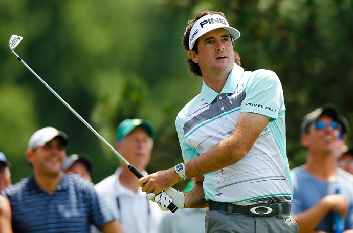 Bubba Watson eagled the par-4 15th on his way to a seven-under 63.