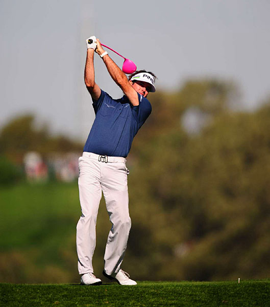 Bubba Watson made four birdies, a bogey and a double bogey for a 71.