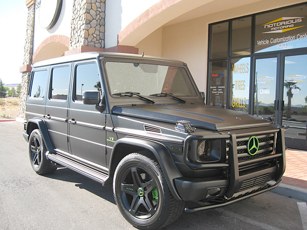 Watson's G-wagon in front of Notorious Motoring.
