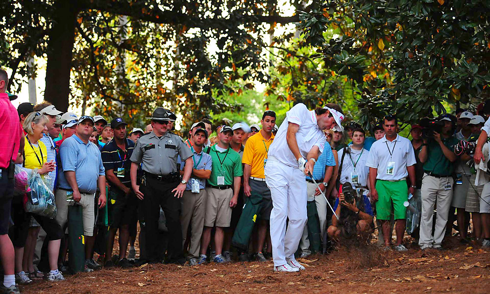 For Thanksgiving week, the writers and editors at Golf.com, Golf Magazine and Sports Illustrated Golf+ have compiled a list of the things we're thankful for from the world of golf in 2012.                        Bubba Watson's hook to win the Masters                       Bubba's old-school game of shaped shots is an anomaly in the modern world of forgiving drivers and irons, and it was on full display at the 2012 Masters. In a playoff against Louis Oosthuizen at Augusta, Watson swiped at his ball from atop pine straw and between trees, hooking it 40 yards and onto the green to set up a two-putt for the green jacket, making an already magical tournament even more special.