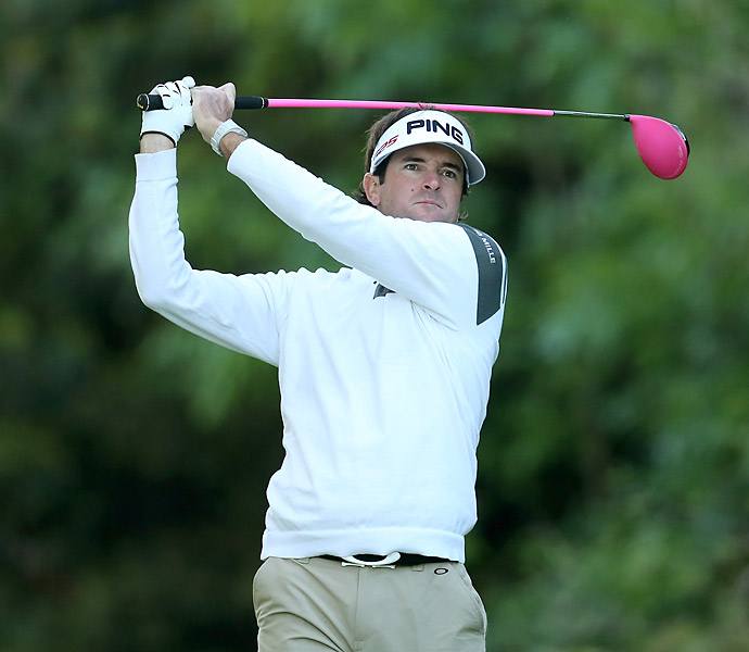 Bubba Watson struggled to a six-over 77.