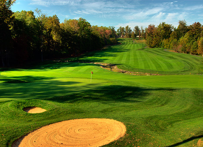 9. Bulle Rock [No. 48], Havre de Grace, Md.; $79-$130, bullerockgolf.comFive times the venue for the LPGA Championship, this beautiful brute from Pete Dye situated 40 minutes north of Baltimore unfolds over rolling, tree-lined terrain for 7,375 yards and enjoys several grin-inducing vistas of Chesapeake Bay. Rates include cart and unlimited use of the range and short game area.