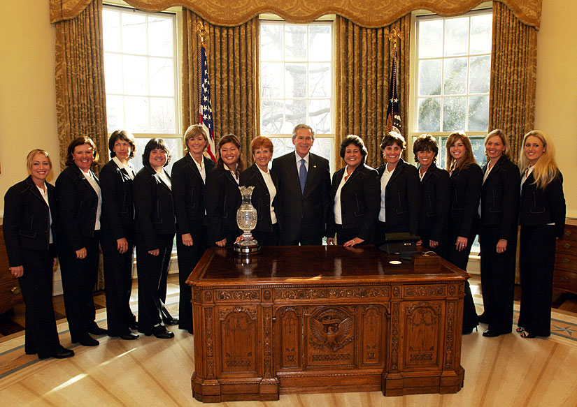 The Solheim Cup team also visited in 2006 after winning the cup back the previous year at Crooked Stick.