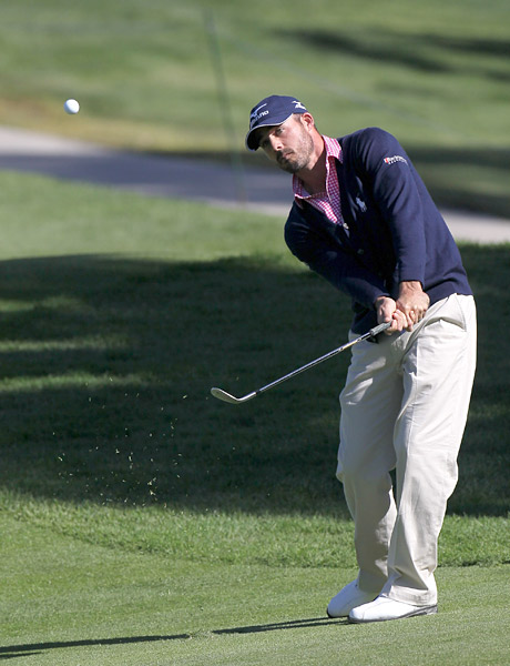 Jonathan Byrd held the clubhouse lead when he finished with a three-under 68.
