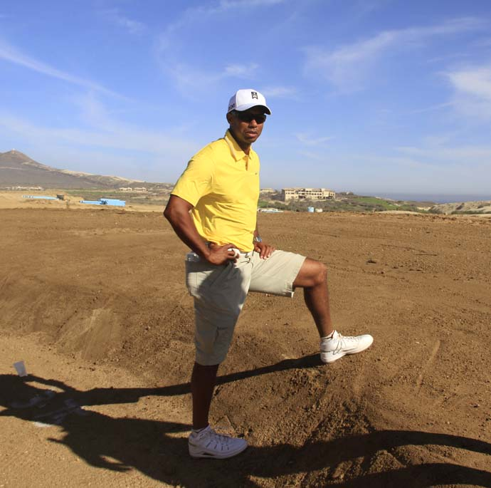 Master Builder: Tiger Woods at the site of his new golf course in Cabo San Lucas.