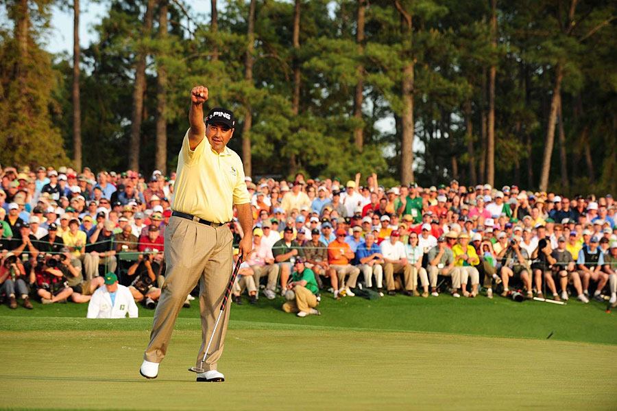 Angel Cabrera became the first South American to win the Masters when he defeated Kenny Perry and Chad Campbell in a playoff.