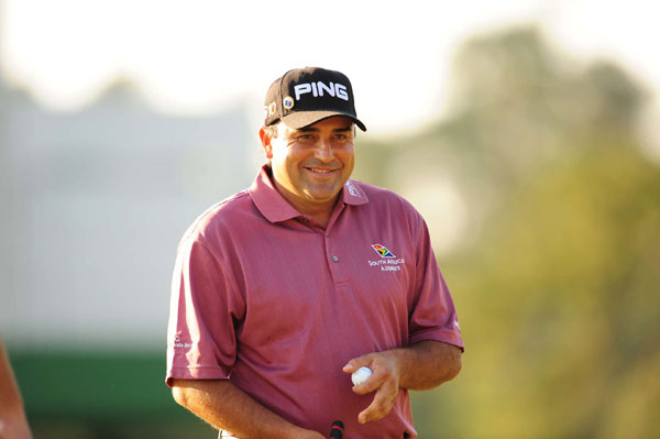 Third Round of the 2009 Masters                       Angel Cabrera, winner of the 2007 U.S. Open, is tied for the lead with Kenny Perry at 11 under.