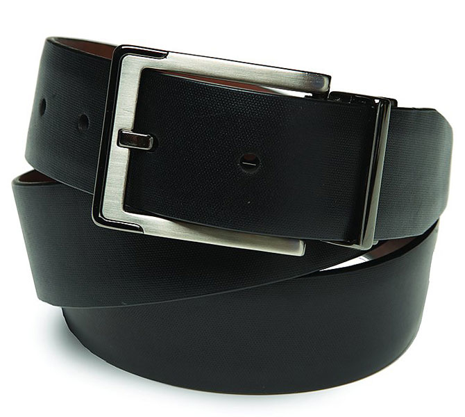Callaway ERC Belt                           $56, callawaygolf.com                           Callaway's 100 percent full-grain leather belt features a two-tone buckle and easily reverses from black to brown.
