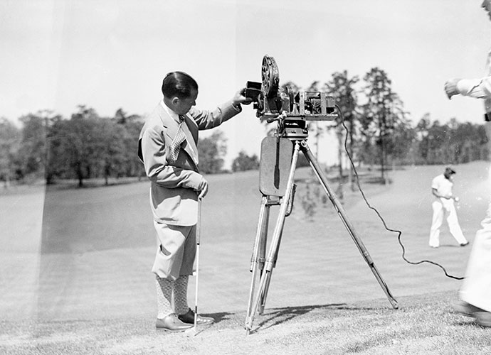 Jones made his money in Hollywood                       When Jones retired from competitive golf in 1930, Warner Bros. paid him $120,000 to make How I Play Golf, a film series in which he gave lessons to stars such as James Cagney, Edward G. Robinson and W.C. Fields.