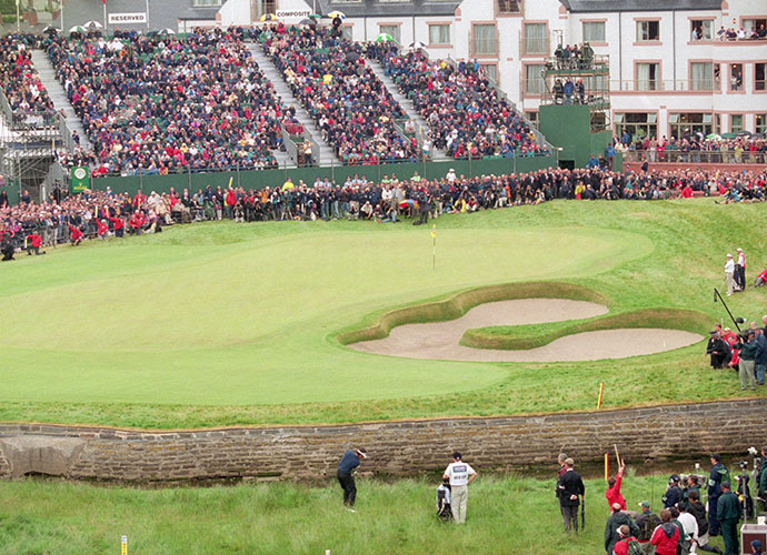 "9. Carnoustie (Championship), Carnoustie, Scotland: Dubbed ""Car-Nasty"" for its head-scratchingly hard setup for the 1999 British Open, the 23rd ranked course in the world has hosted seven Opens in all. Heather, gorse, jungle-like fescue rough, steep-faced revetted bunkers and the sinuous Barry Burn create havoc in the wind."