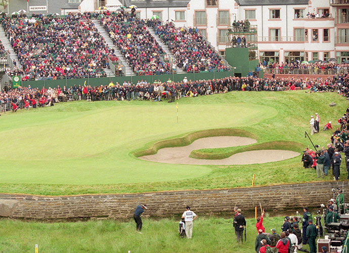 "4. Carnoustie (Championship), Carnoustie, Scotland; Opens: 1931, 1937, 1953, 1968, 1975, 1999, 2007                                   Dubbed ""Car-nasty"" during the 1999 Open, where skinny fairways and jungle-like rough induced a winning score of 290 (+6), this ancient links dates in part to 1842. Ben Hogan captured the Claret Jug here in 1953, his only appearance in the Open."